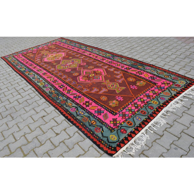 Anatolia Turkish Kilim Rug - 6′6″ × 14′2″ - Image 6 of 10