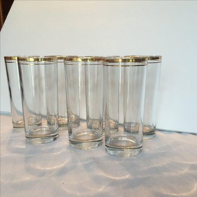 Gold Trimmed Glasses - Set of 7 - Image 7 of 10
