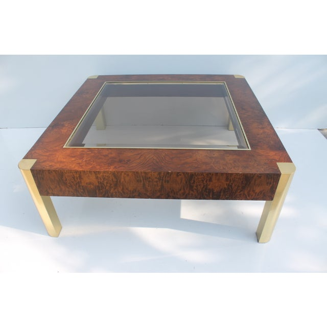 Century Furniture Burl & Brass Coffee Table - Image 2 of 10