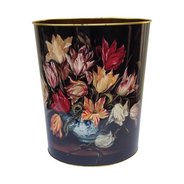 Vintage Tulip Wastebasket - Image 1 of 8