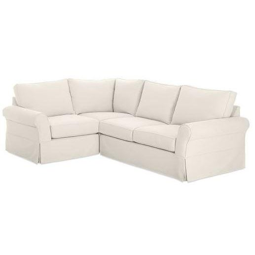 pottery barn 3 piece sectional couch chairish