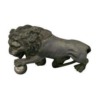 Spelt Lion Figurine