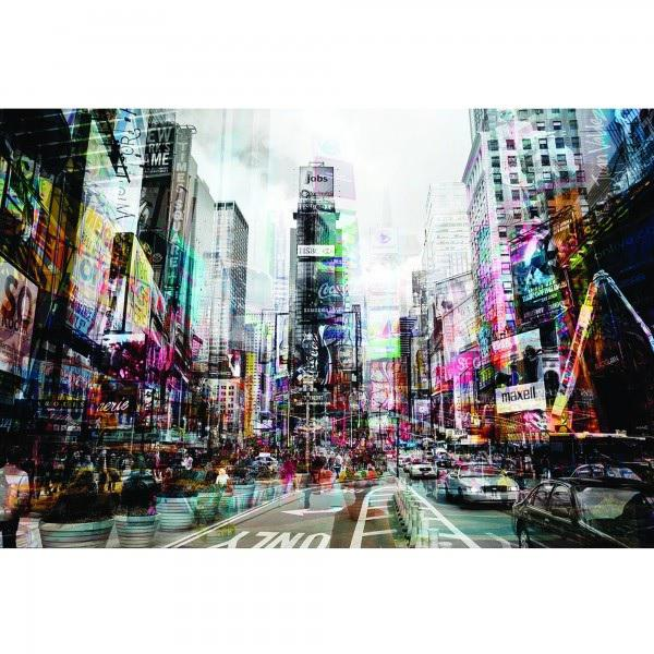 Image of Yosemite Contemporary Vibrant Nyc in Motion on Tempered Glass