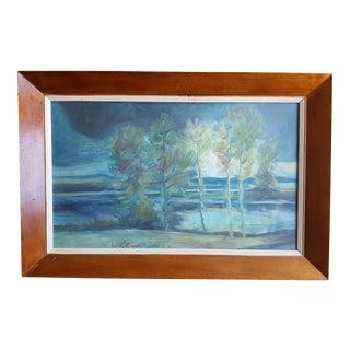 1967 W. Lewicki Landscape Painting