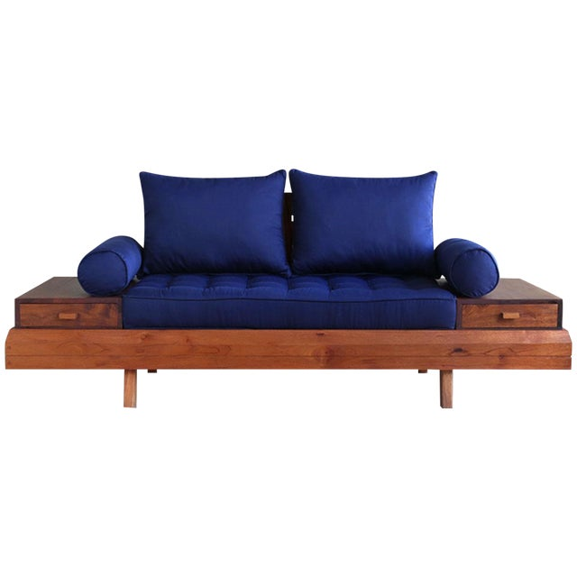 Floating Blue Loveseat by Masaya & Company - Image 1 of 8