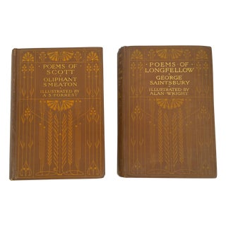 Antique 1900 'Poems of Longfellow and Scott' Books