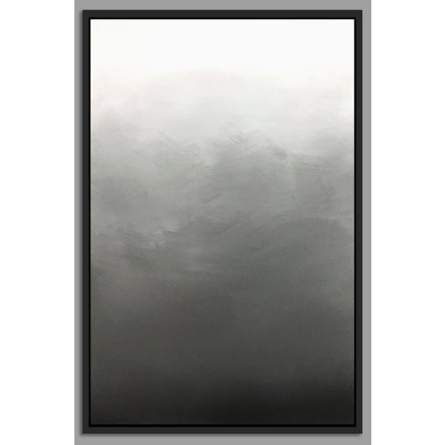 """Abstract Gray Ombré"" Framed Giclée Print - Image 2 of 3"