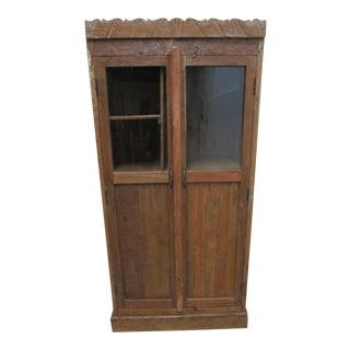 Antique Primitive Architectural Salvage Hutch China Cabinet Cupboard M