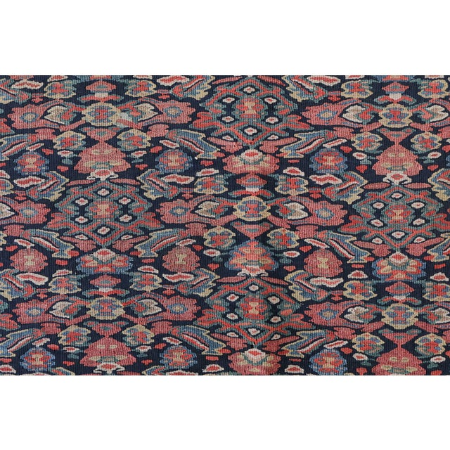 "Antique Senneh Kilim Rug - 4'1"" x 6'2"" - Image 3 of 4"