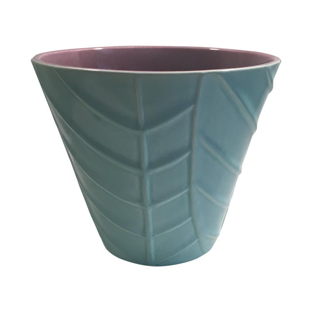 Vintage Blue Catalina Ceramics Planter - Image 1 of 9