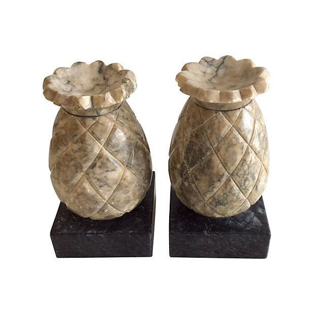 Image of Alabaster Pineapple Bookends - Set of 2