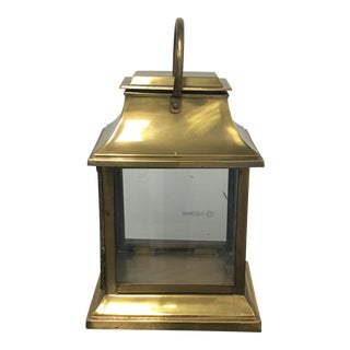 New Henredon Brass & Glass Lantern