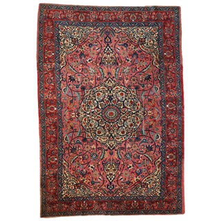 1920s Antique Persian Lilihan Rug- 6′8″ × 10′6″