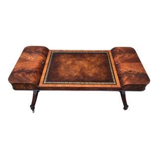 Mahogany & Leather Coffee Table