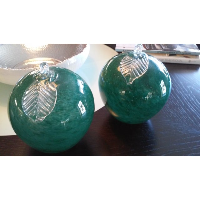 Image of Italian Emerald Green Apples - A Pair