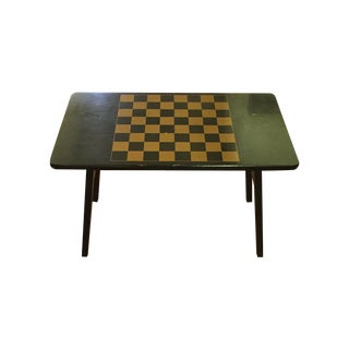 Black & Gold Vintage Folding Game Table