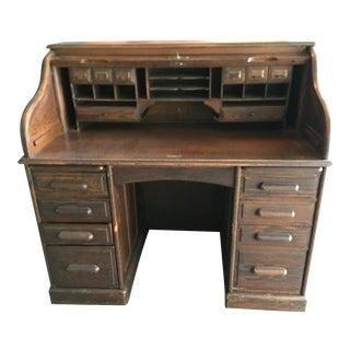 1900's Oak Roll Top Desk