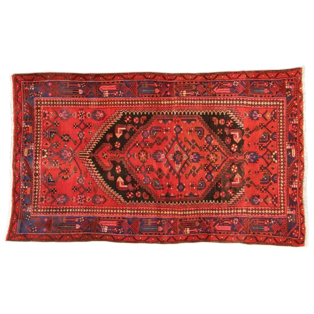 "Vintage Red Persian Rug - 4' x 6'7"" - Image 1 of 4"