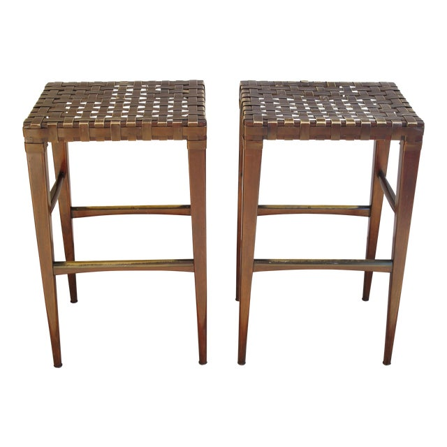 Artistica Milo Backless Barstools -- A Pair - Image 1 of 10