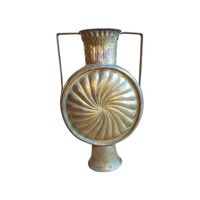 Image of Vintage Chinese Hammered Brass Vase