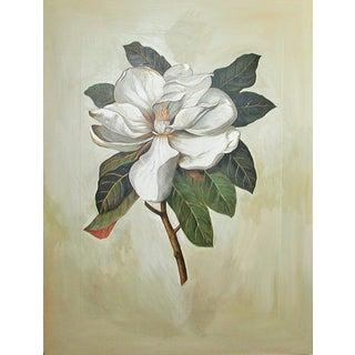 Vintage Oil Painting on Board - Magnolia Specimen