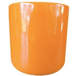 Vintage Orange Cylindrical Planter