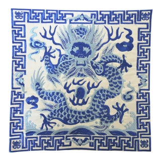 Ming Blue & White 'Dragon' Lamp Mat