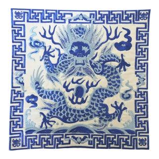 Ming Blue & White 'Dragon' Mat