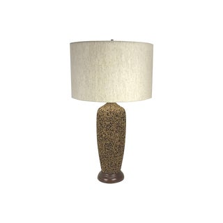 Mid-Century Modern Cork Table Lamp, 1960s