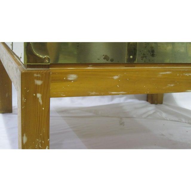 Vintage Sarreid LTD Brass Cocktail Table - Image 4 of 5
