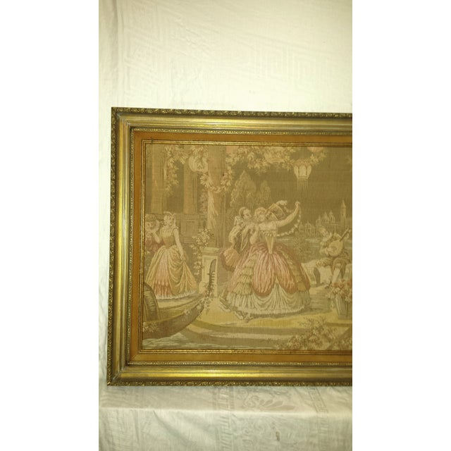 Antique Very Large Framed French Tapestry - Image 3 of 7