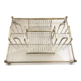 Vintage Lucite Silverplate Buffet Caddy