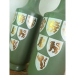 Image of 1960s Painted Glass Wine Decanters- A Pair