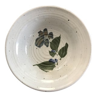 Signed Floral Pottery Bowl