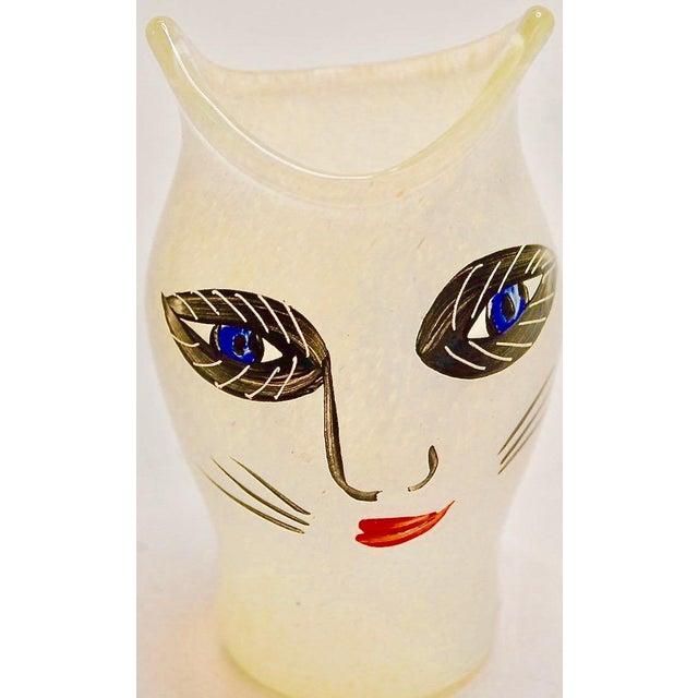 Ulrica Hydman Vallien For Kosta Boda Glass Cat Vase Chairish