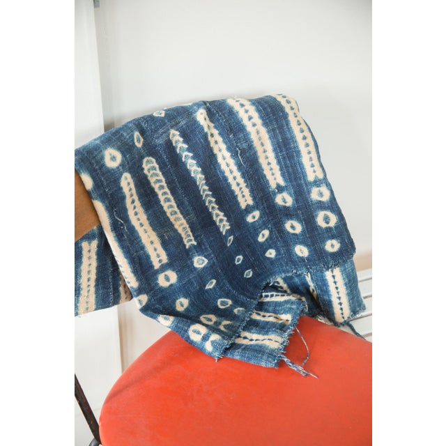 """Vintage African Textile Throw - 3'4"""" X 5' - Image 6 of 6"""