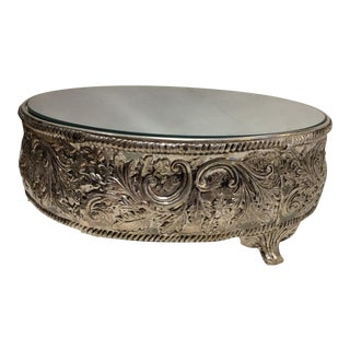 Botanical Silver & Mirror Cake Stand