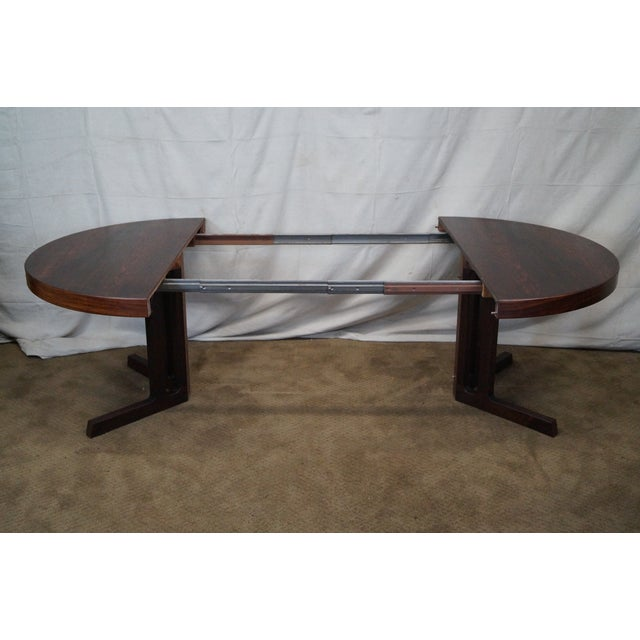 Vintage Danish Modern Rosewood Round Dining Table - Image 6 of 10