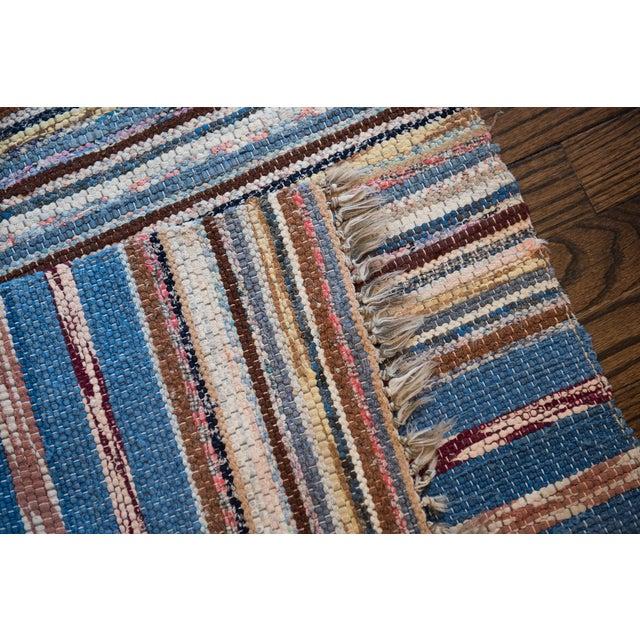 "Vintage Scandinavian Handmade Rug - 2'2"" x 9'3"" - Image 6 of 9"