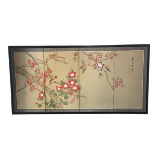 Birds on Cherry Blossom Asian Silk Painting