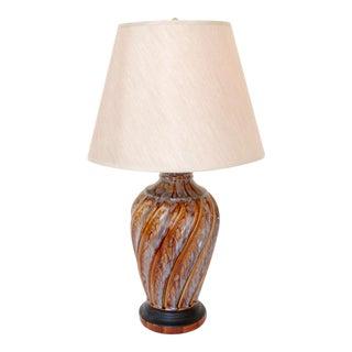 Mid-Century Swirl Table Lamp