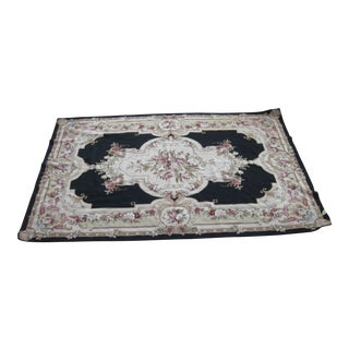 Antique Handmade Hooked Rug - 5' x 10'