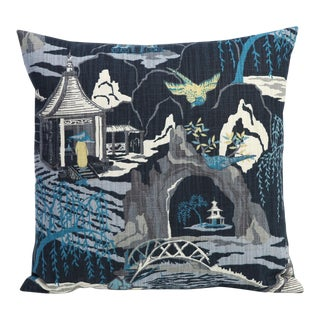 Indigo Robert Allen Asian Decor Pillow Cover