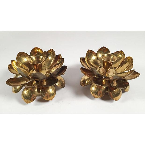 Image of Lotus Candleholders - Pair