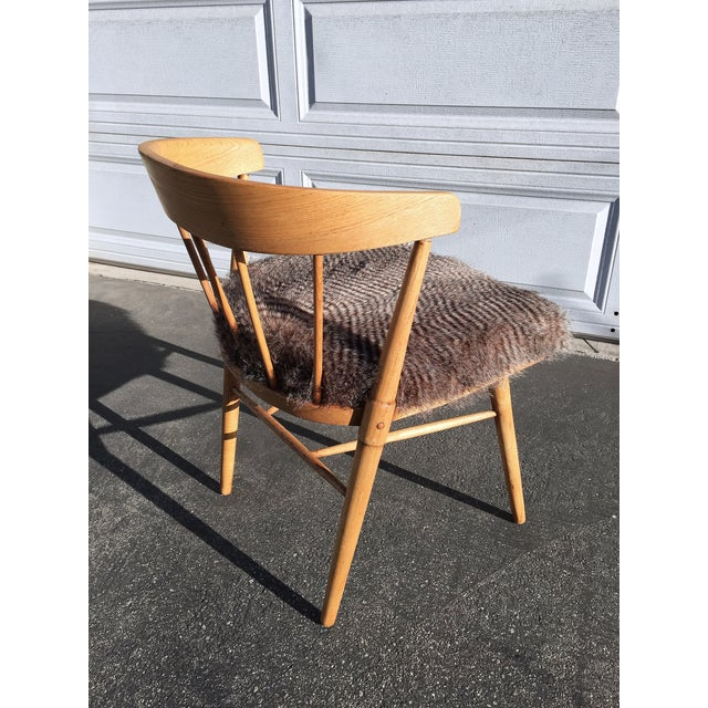 Mid Century Modern Quail Fur Spindle Chair - Image 4 of 5