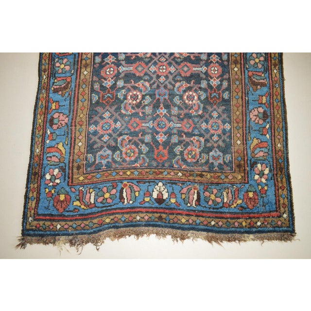 """Antique Persian Wide Runner- 3'10"""" X 9'7"""" - Image 8 of 11"""
