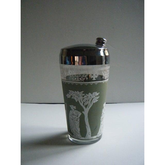 Image of Vintage Jeanette Wedgwood Green Cocktail Shaker