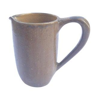 Vintage Brown Ceramic Pitcher