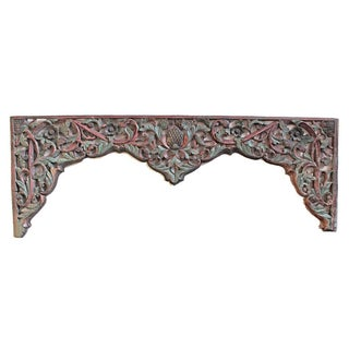 Rustic Javanese Carved Panel