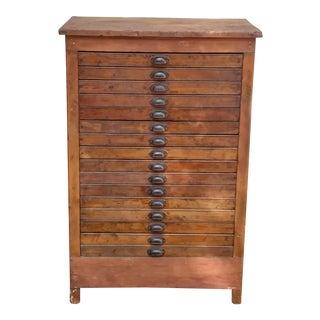 Antique Letterpress Cabinet